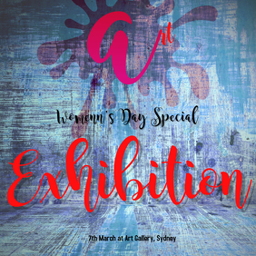 womens day art exhibition template