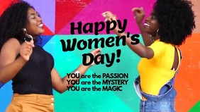 Womens Day Card You are Passion Magic Mystery template