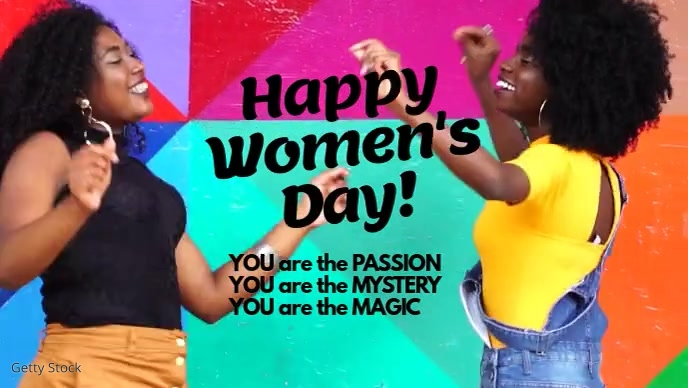 Womens Day Card You are Passion Magic Mystery Facebook 封面视频 (16:9) template
