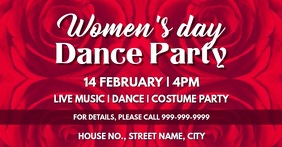 Womens day dance party event cover Facebook-evenementomslag template