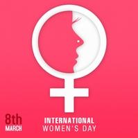 Womens Day Publicación de Instagram template