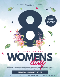 womens day Flyer (US Letter) template