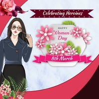 Womens Day Message Instagram template