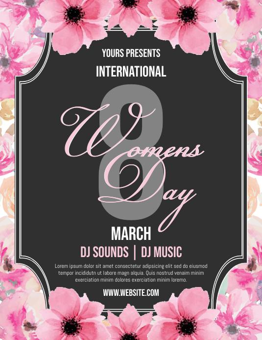 Womens Day 传单(美国信函) template