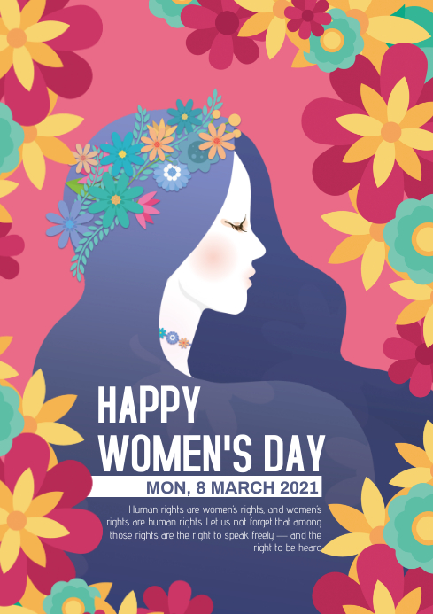 womens day A4 template