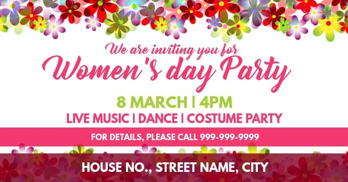 Womens day event cover Portada de evento de Facebook template