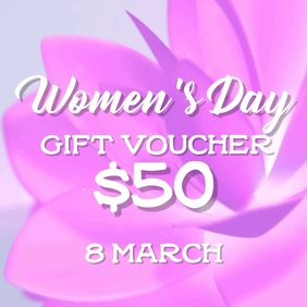 Womens Day gift voucher