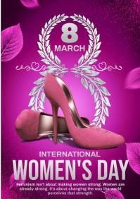 womens day party A4 template