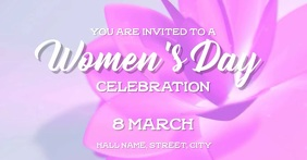 Womens Day party Facebook begivenhed cover template