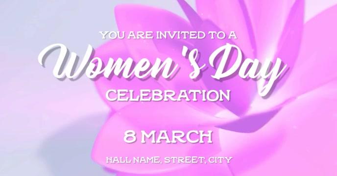 Womens Day party Sampul Acara Facebook template