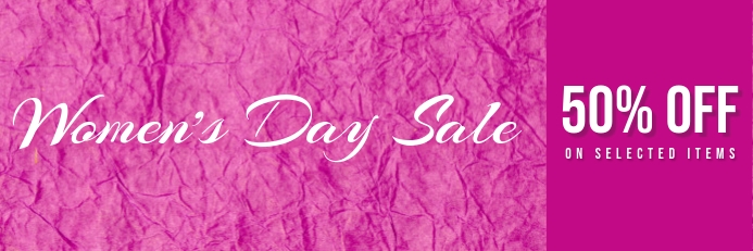 womens day sale banner template