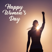 womens day template Post Instagram