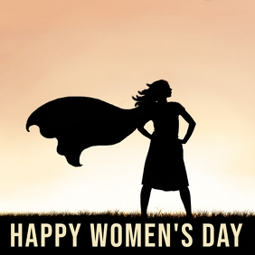 womens day template Instagram Plasing