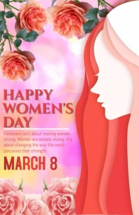 womens day video 小报 template