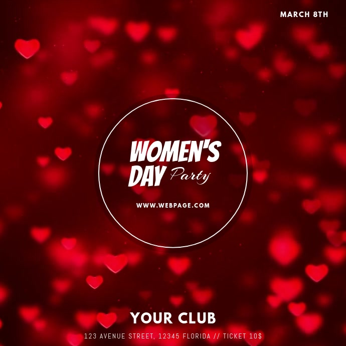 Womens day video post template Instagram-opslag