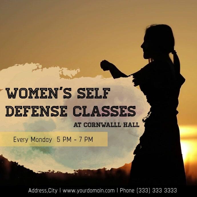Womens defence class Quadrado (1:1) template