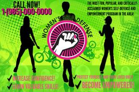 Women's Self-Defense Class Seminar Workshop Flyer Ad Poster template
