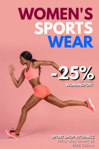 Womens sports Wear Fashion Sale Shop Store Ad