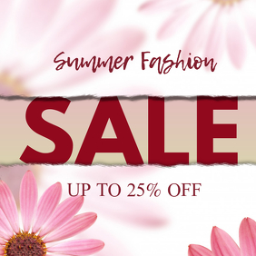 womens Summer Sale Fashion Discount Special Offer Deal Ad