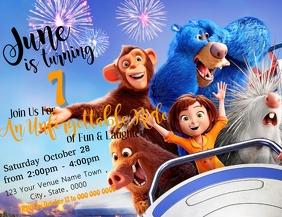 WonderPark Birthday Party Invitation Template