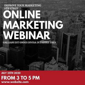 wonline marketing webinar instagram post ad template
