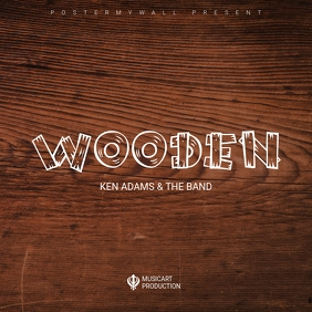 Wood album cover art design template Albumcover