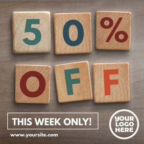 Wood Blocks Sale Post Template
