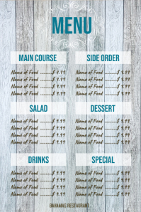 Wood Board Menu 16