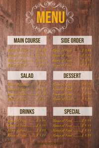 Wood Board Menu 2