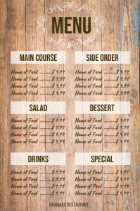 Wood Board Menu
