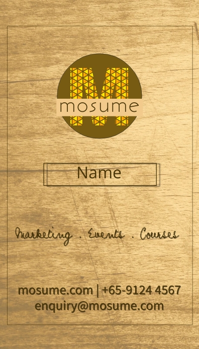 Wood Business Name Card 名片 template