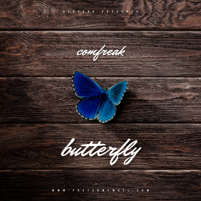 Wood Butterfly Mixtape CD Cover Template
