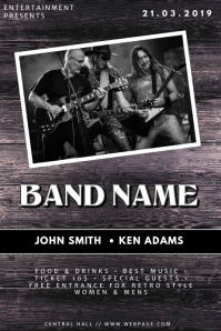 Wood Country Band Flyer Template