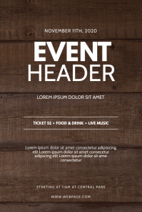 Wood Event Flyer Design Template