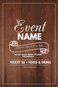 Wonderful Wood Event Flyer Template