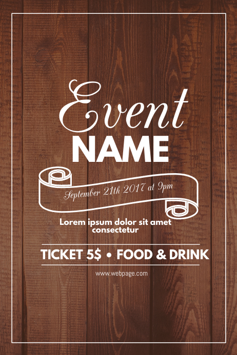 wood event flyer template postermywall