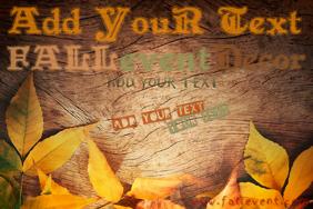 Wood Fall Autumn Sign Harvest Leaves October November