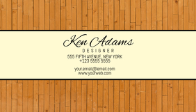 wood simple business card template