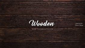 Wood Wooden Youtube Channel Art Banner template