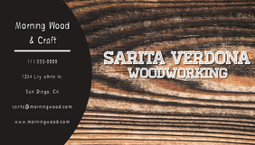 Wood Working Business Card Kartu Bisnis template