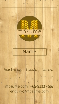 Wooden Business Card นามบัตร template