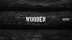 Wooden Youtube Channel Art Banner template
