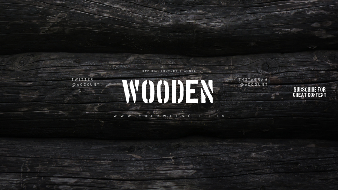 Wooden Youtube Channel Art Banner