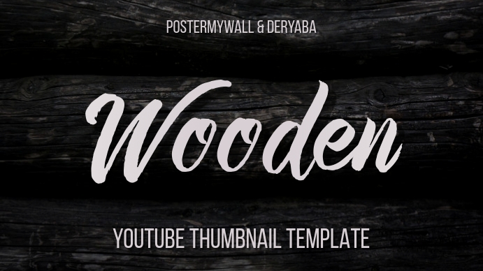 Wooden Youtube Thumbnail Basic Style Template