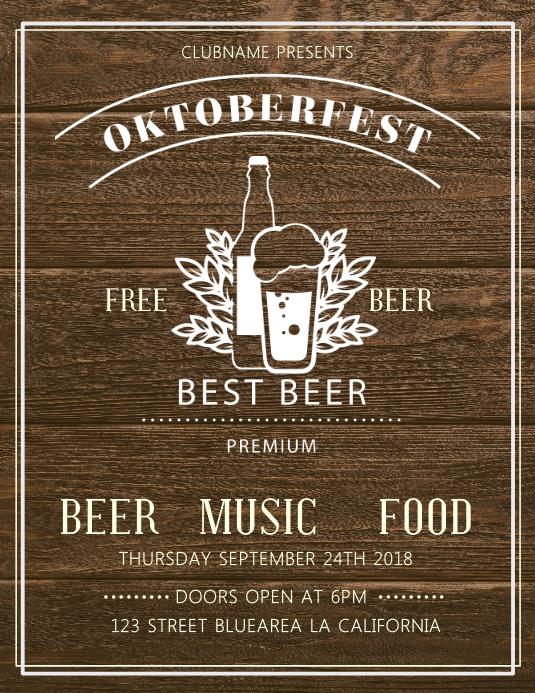 Woodwork Oktoberfest Bar Flyer Template