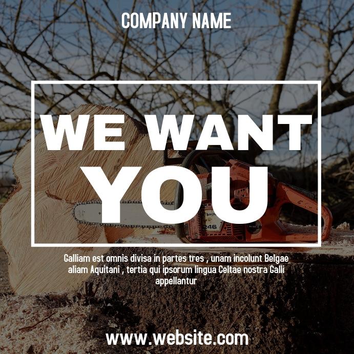 woodworker instagram post hiring advertisemen