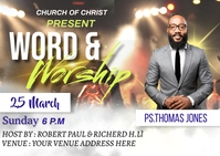 Word and worship Postal template