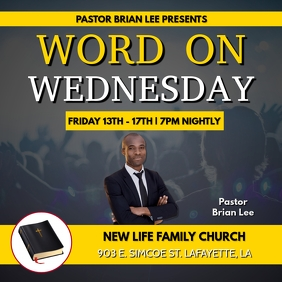 WORD ON WEDNESDAY CHURCH FLYER