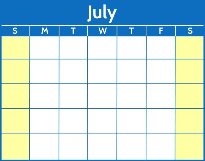 Word Printable Calendar Template Poster/Wallboard