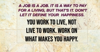 WORK AND LIVE QUOTE TEMPLATE Facebook Ad